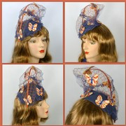 Button Butterfly Fascinator Hat