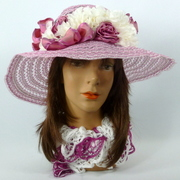Pink and White Kentucky Derby Hat