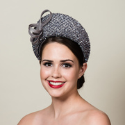 Parasisal and sequin lace halo hat