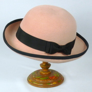 Pink and Black Bowler Derby Style Hat