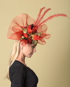 Red Crin Fascinator