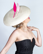 Dior brim with floating feathers
