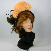 Reproduction 1800s Victorian Bonnet Hat