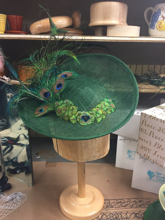 Peacock Sinamay Saucer