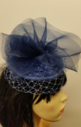Blue Button Fascinator