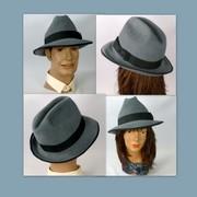 Grey Felt Velour Fedora Style Hat - Unisex