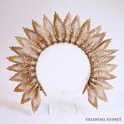 Celestine Lace Crown - Gold