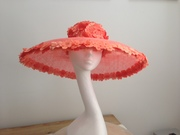Coral Ascot large hat