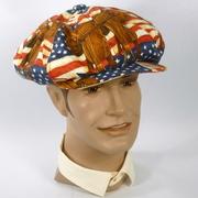 Patriotic Cowboy Rodeo Newsboy Style Cap Hat