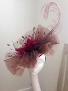 Crinoline and feather hat