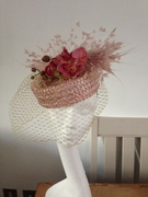Swiss Straw and Orchid hat