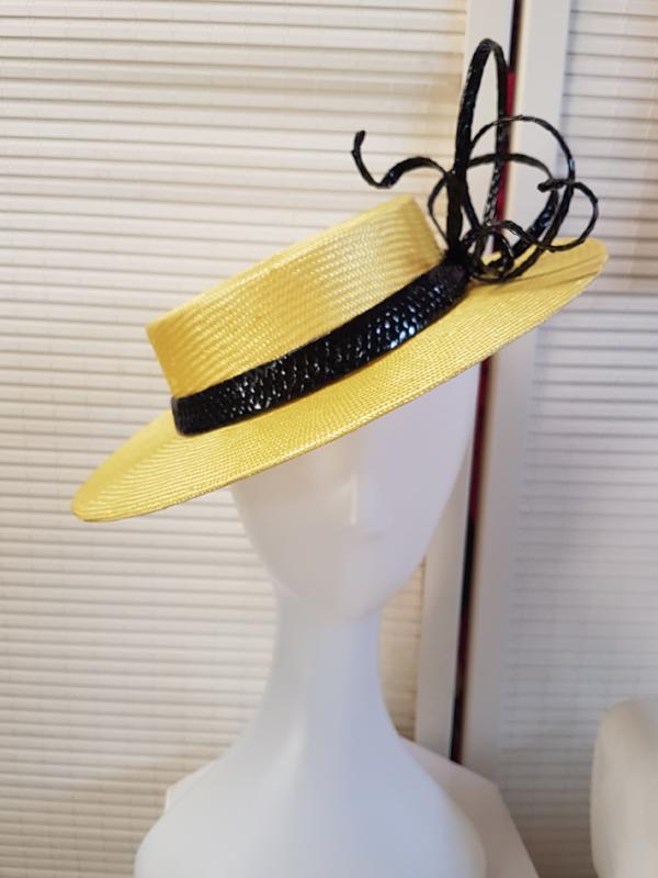 Lemon Boater Hat