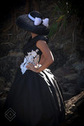 Dior Inspired Hat and Dress in Black and White