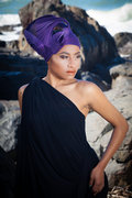 Modern Turban in purple