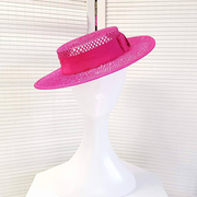Pink Mesh Boater