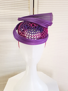 3D Printed Headpiece in Purple and Pink