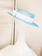 Blue Boater Hat
