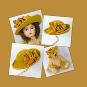 Doll or Teddy Dear Felt Hat