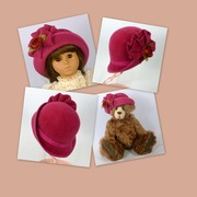 Doll or Teddy Bear Felt Hat -