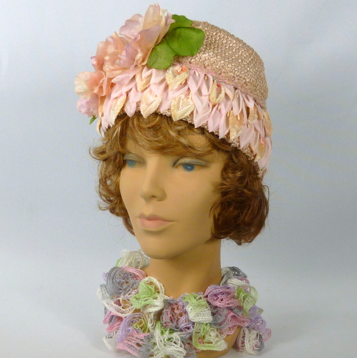 Soft Pink Woven Straw Hat