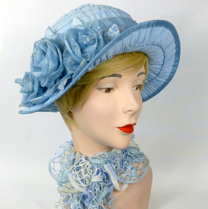 Sky Blue Cloche Style Hat