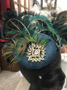 Custom Peacock Cocktail Hat For Client