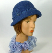 Blue Sparkle Felt Hat - Shades of Blue