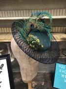 Bias Brim Peacock Tilt Hat