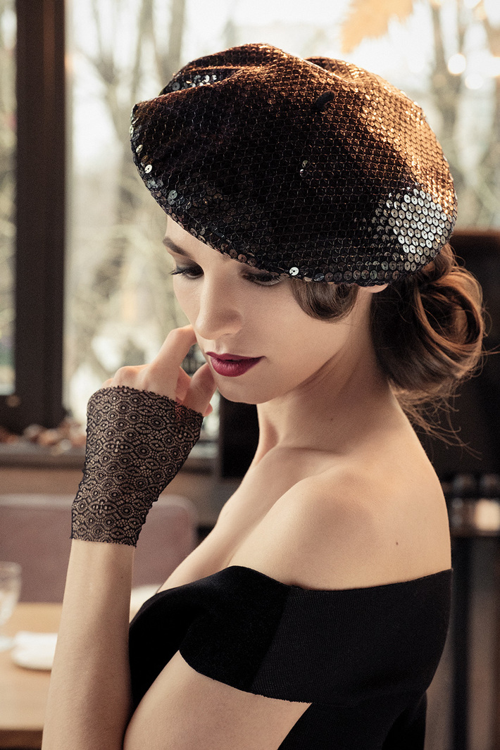 Sequins French beret
