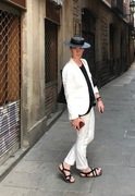 Black Spanish Boater Hat