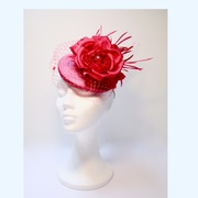 Shocking Pink Fascinator