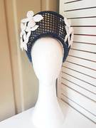Navy and white crown