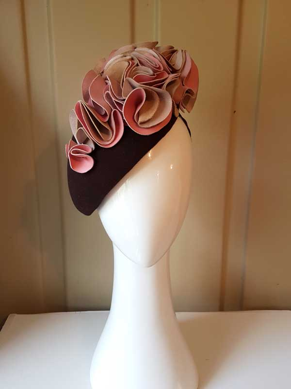 Chocolate and Pink headpiece