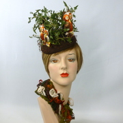 It's a Hoot! - Owl button fascinator hat - Bes-Ben Style
