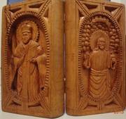 sculptură/carte verso