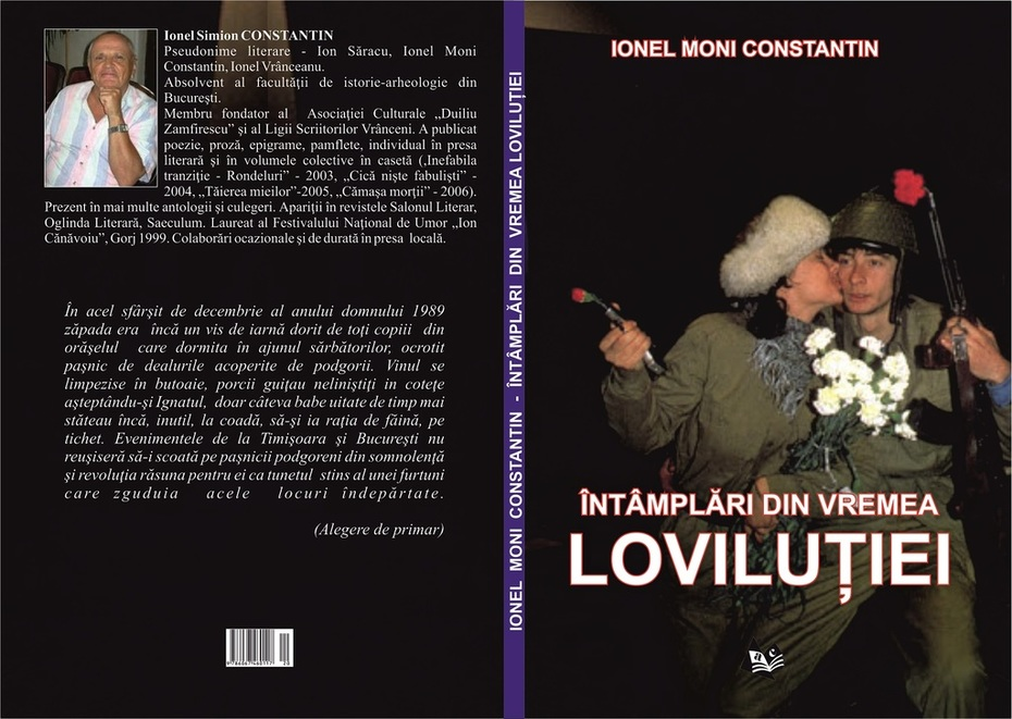 """""""Întâmplări din vremea loviluției"""" de Ionel Moni Constantin (copertă)"""