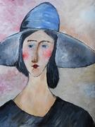 "Interpretare dupa ""Jeanne Hebuterne cu palarie "",Modigliani"