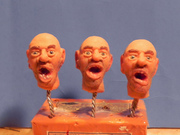 Silicone heads open mouth