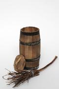 Barrel and broom