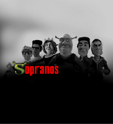 Sopranos parody publicity poster
