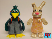 Zey The Mouse friends Peter Parrot and Bella Bunny