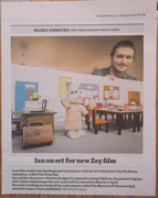 Zey The Mouse 'Newspaper Clipping' for Animation