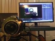 Monitor and PullFocus camera rig