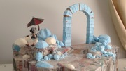 Paper-meche and foam Rocks