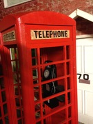 phone box wooden