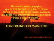 FELIZ EQUINOCCIO MARZO 2013