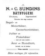 Båtar från N & C Sundins Båtbyggeri, Docksta
