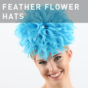D39 - FEATHER FLOWER HATS