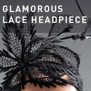 D09 - Glamorous Lace Headpiece