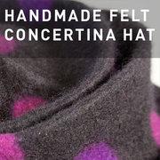 D07 - HANDMADE FELT CONCERTINA HAT